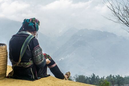 Homestay with Hmong People - women making crafts