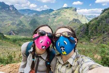 Dong Van (Ha Giang) Vietnam - Trekking with cute face masks
