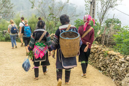 Homestay with Hmong People - leading us to their home