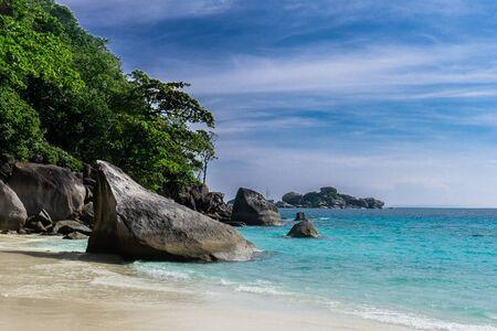 Similan Island, Thailand 3 day liveaboard SCUBA trip - going to beach