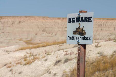Visiting the Badlands in South Dakota in September 2018 Archivio Fotografico