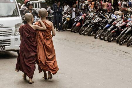 Mandalay, Myanmar - Monks around town