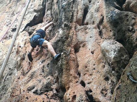 Railay Beach, Krabi, Thailand - rock climbing