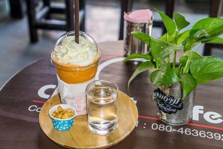 Chiang Rai, Thailand - thai milk tea frappe