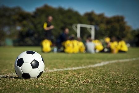 sport team: Het voetbalteam Stockfoto