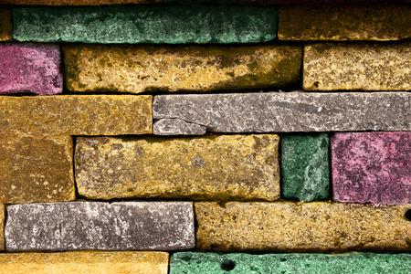 Colored stone blocks background.