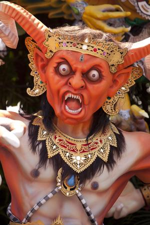 A fesitval demon figure Bali.