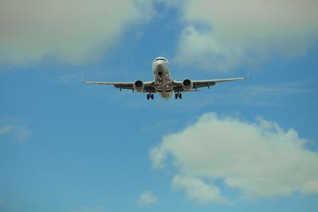 Passenger plane in flight