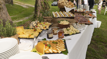 Banquet tabel Northern Italy Standard-Bild