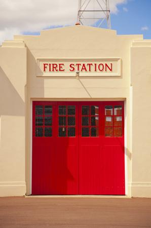 Art deco fire station door Standard-Bild