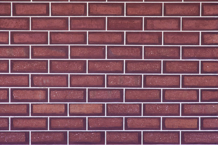 Red bricks, white mortar