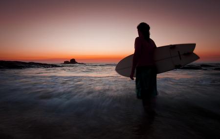 Evening surf Margaret River Standard-Bild