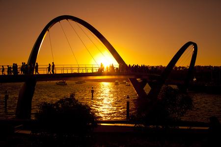 Silhouette Elizabeth Quay, Perth