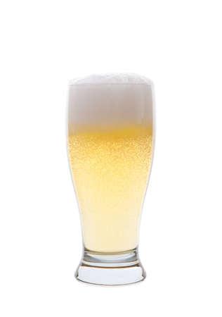 pilsner: Una cerveza Pilsner luz aislados sobre un fondo blanco