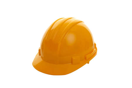 Yellow hard hat shot on white background  Stock Photo - 13303211