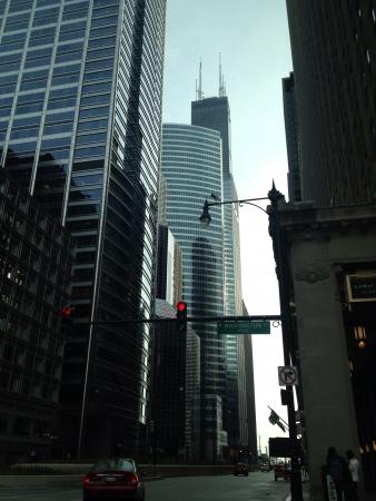 ウィリス タワー シカゴ都市景観 写真素材