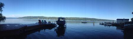 refelction: Keuka Lake Stock Photo