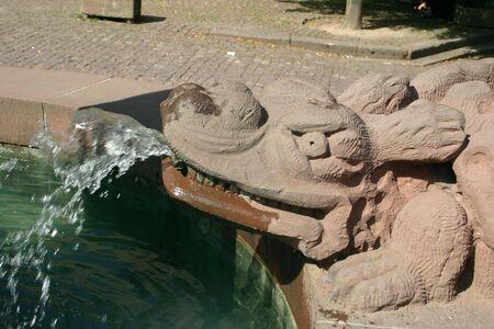 Fantasy animal fountain Stock Photo