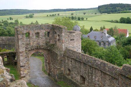Muenzenberg Castello Rovina, Germania Archivio Fotografico - 236512