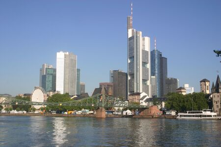Skyline di Francoforte, Francoforte, Germania  Archivio Fotografico - 241637