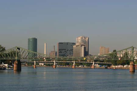 Frankfurt skyline with river, Frankfurt, Germany