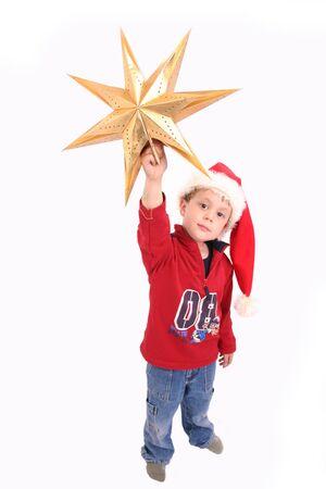 Christmas Boy 3 Banque d'images