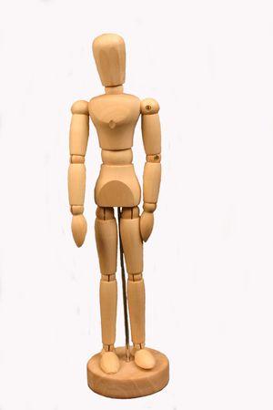 Wooden puppet, isolated Reklamní fotografie - 284222