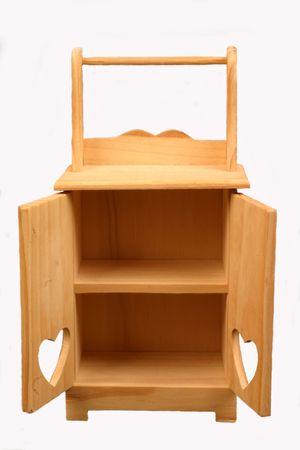 Armadio di legno in miniatura, isolato Archivio Fotografico - 284218