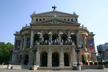 Old opera frankfurt 版權商用圖片