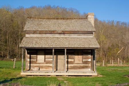The original house on a homestead in Reynolds County Missouri. Banque d'images