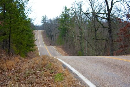The side of a rural highway.