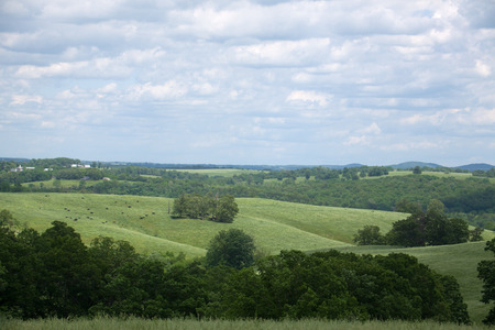 A southern Missouri landscape in the summer. Banque d'images