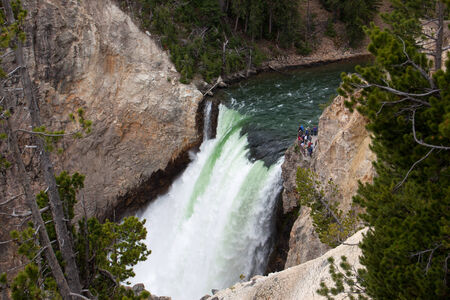 The Upper Falls at Yellowstone National Park.