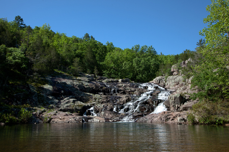 Rocky Falls of the Ozark National Scenic Riverways in Missouri.