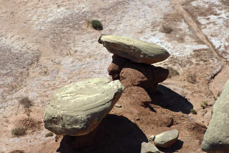 Rocks balancing on one another.