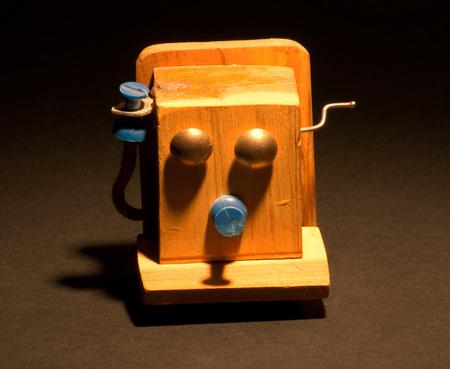 작은 수제 전화 자석. 스톡 콘텐츠