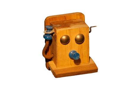 작은 손수 구식 전화.