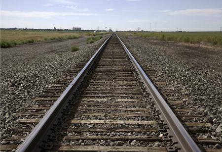 Railroad tracks oustide of Stratford Texas.