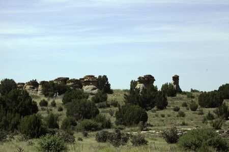Rock formations in an Oklahoma landscape.