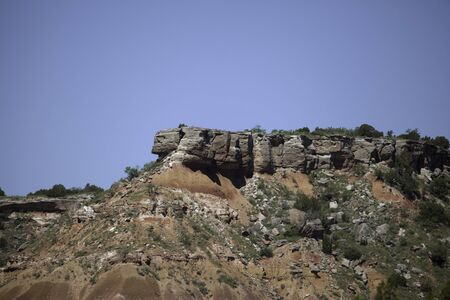 A rock formation at Palo Duro Canyon in Texas.