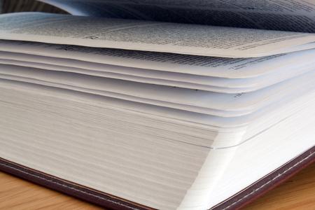 A side view of a book. 版權商用圖片