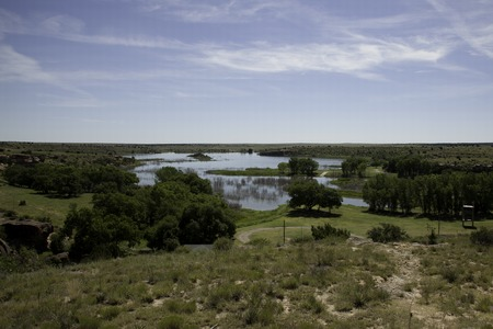 A view of Lake Etling in Oklahoma.