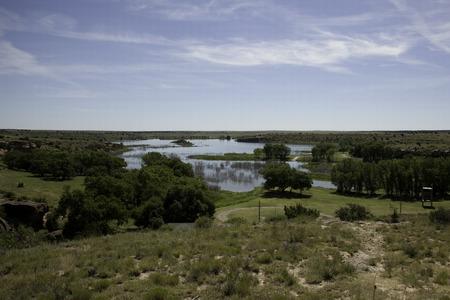 Una veduta del lago Etling in Oklahoma. Archivio Fotografico - 54385506
