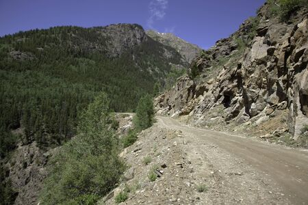 A dirt road through the Sangre De Cristo Mountains.