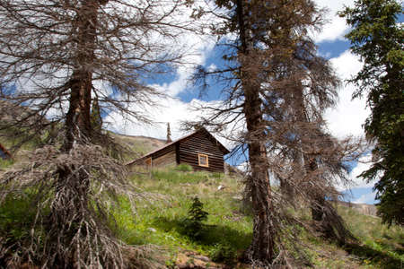 A cabin in the Sangre De Cristo Mountains.