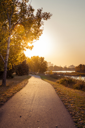 Sunrise on a River Path