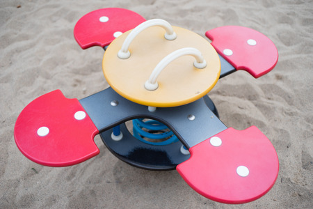 Bouncy playground furniture for small kids Standard-Bild - 123179066