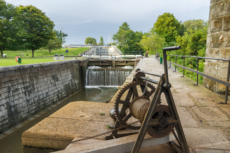 Empty canal lock at  Ontario
