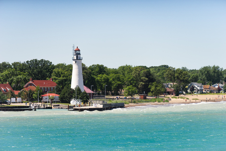 Lighthouse at Fort Gratiot, MI Imagens