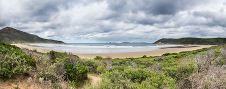 wilsons promontory: Norman Bay in Wilsons Promontory National Park in Victoria, Australia Stock Photo